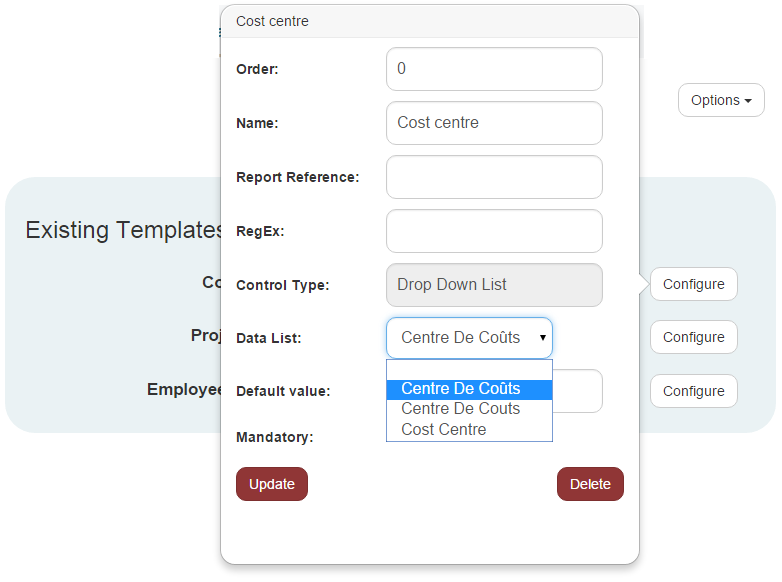 Creating the Custom Data Field with the Dynamic Data List – Conferma